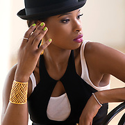 Recording artist Jennifer Hudson photographed during one of her video shoots