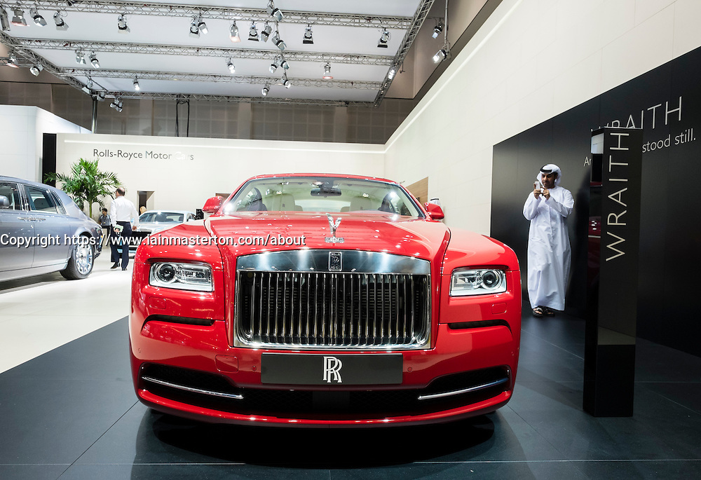 Rolls Royce Wraith at the Dubai Motor Show 2013 United Arab Emirates