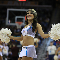 06 February 2009: A New Orleans Hornets Honeybee cheerleader performs during a 101-92 win by the New Orleans Hornets over the Toronto Raptors at the New Orleans Arena in New Orleans, LA.