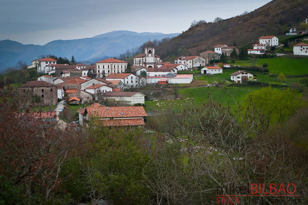 Zugarramurdi village.<br /> Baztan valley, Navarre, Spain.