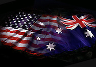 American and Australian flags blended.<br /> <br /> Larger JPEG + TIFF images available by contacting use through our contact page at : www.effectiveworkingimage.com
