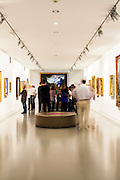 People visiting permanent collection of Granet Museum in Aix-en-Provence, France