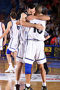 Antibes 21/06/1999<br /> Campionati Europei di Basket Francia 1999<br /> Italia-Bosnia<br /> Carlton Myers e Andrea Meneghin