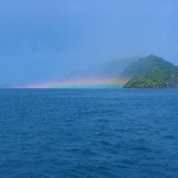 Flat rainbow over the sea of Misool.