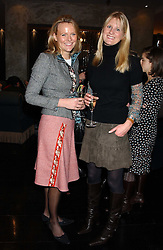 Left to right, ALISON POOLE and LADY MARIA BALFOUR at the 1st Baglioni Hotel's Designer Lunch featuring designs by Amanda Wakelel held at The Baglioni Hotel, 60 Hyde Park gate, London on 1st February 2006.<br /><br />NON EXCLUSIVE - WORLD RIGHTS
