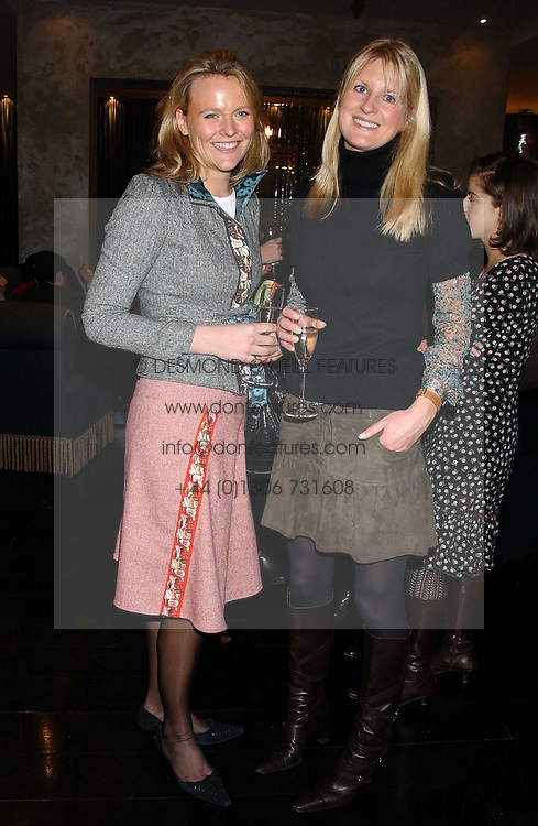 Left to right, ALISON POOLE and LADY MARIA BALFOUR at the 1st Baglioni Hotel's Designer Lunch featuring designs by Amanda Wakelel held at The Baglioni Hotel, 60 Hyde Park gate, London on 1st February 2006.<br />