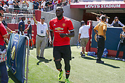 Manchester United Forward Romelu Lukaku comes onto the pitch during the AON Tour 2017 match between Real Madrid and Manchester United at the Levi's Stadium, Santa Clara, USA on 23 July 2017.