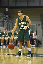 17 December 2011:  Alan Aboona during an NCAA mens division 3 basketball game between the Washington University Bears and the Illinois Wesleyan Titans in Shirk Center, Bloomington IL