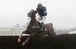 Casablanca Mix ridden by Nico de Boinville in the Caspian Caviar Gold Cup Handicap Chase during day two of the International Meeting at Cheltenham Racecourse.