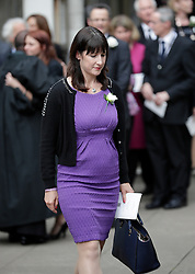 © Licensed to London News Pictures. 20/06/2016. London, UK. RACHEL REEVES MP leaves St Margaret's Church, Westminster Abbey after taking part in a Service of Prayer and Remembrance to commemorate Jo Cox MP, who was killed in her constituency on June 16, 2016. Photo credit: Peter Macdiarmid/LNP