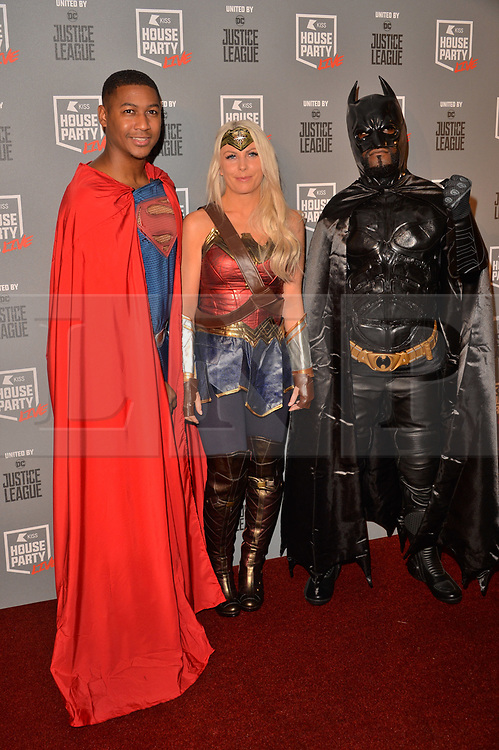 © Licensed to London News Pictures. 26/10/2017. London, UK. Rickie Haywood Williams, Charlie Hedges and Melvin Odoom attends the Kiss House Party Live event at the SSE Wembley Arena. Photo credit: Ray Tang/LNP