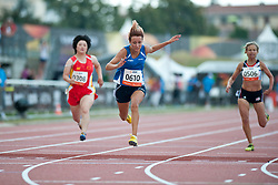 CORSO Oxana, LIU Ping, WARNER Sophia, ITA, CAN, CHN, GBR, 100m, T35, 2013 IPC Athletics World Championships, Lyon, France