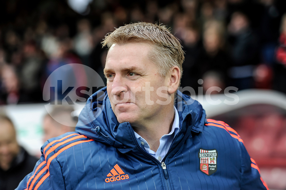Dean Smith manager of Brentford during the The FA Cup third round match between Brentford and Walsall at Griffin Park, London, England on 9 January 2016. Photo by Salvio Calabrese.