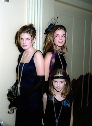 Left to right, GEORGINA & ISABELLA ANSTRUTHER-GOUGH-CALTHORPE and centre, CRESSIDA BONAS daughters of Lady Mary-Gaye Shaw, at a party in London on 27th January 1998.MEW 12