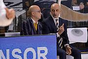 Antonio Forni, Francesco Frank Vitucci<br /> Vanoli Cremona - Fiat Auxilium Torino<br /> Lega Basket Serie A 2016/2017<br /> Cremona, 12/02/2017<br /> Foto Ciamillo-Castoria