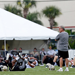 June 5, 2012; Metairie, LA, USA; New Orleans Saints assistant head coach Joe Vitt during a minicamp session at the team's practice facility. Mandatory Credit: Derick E. Hingle-US PRESSWIRE