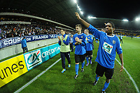 FOOTBALL - FRENCH CUP 2011/2012 - 1/16 FINAL - SABLE FC v PARIS SAINT GERMAIN - 20/01/2012 - PHOTO PASCAL ALLEE / DPPI - THE LAP OF HONOUR OF THE FC SABLE PLAYERS