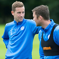 St Johnstone Pre-Season Training in Northern Ireland.. 08.07.16<br />Steven MacLean and Tam Scobbie<br />Picture by Graeme Hart.<br />Copyright Perthshire Picture Agency<br />Tel: 01738 623350  Mobile: 07990 594431