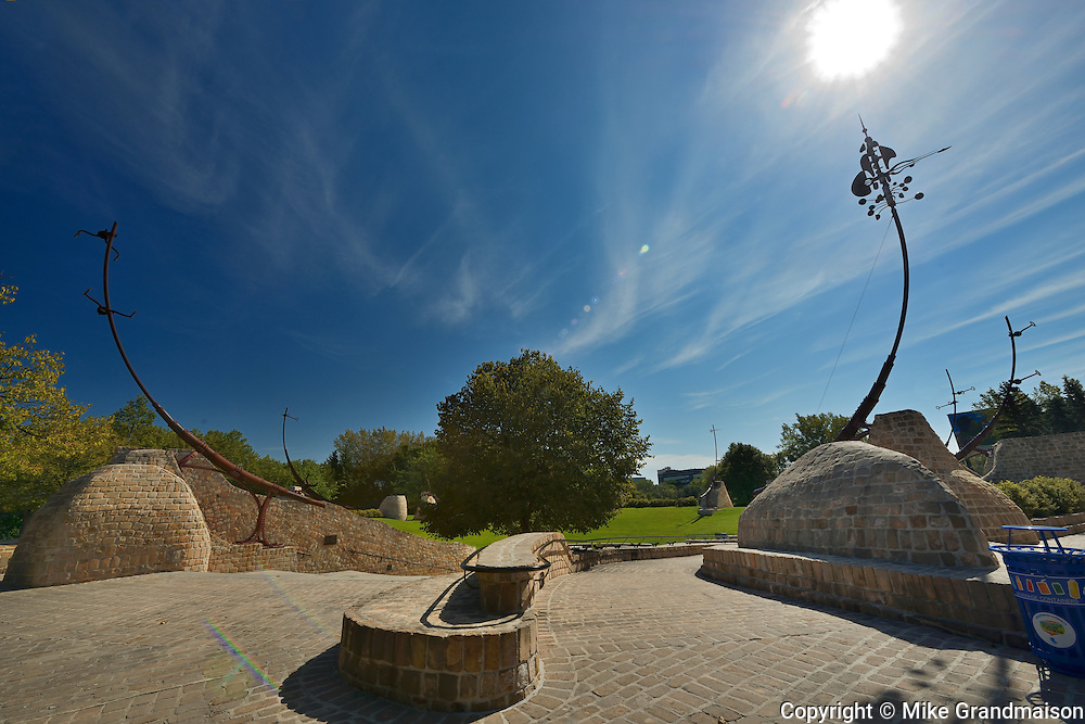 Oodena Celebration Circle at The Forks<br /> Winnipeg<br /> Manitoba<br /> Canada