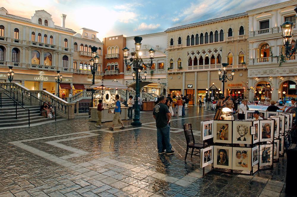 USA Nevada Las Vegas The Venetian Casino und Hotel Venedig Nachbau Kunsthimmel Deckenbemahlung Las Vegas Boulevard  The Strip Nachtleben shopping Touristen Tourismus (Farbtechnik sRGB 34.74 MByte vorhanden) Geography / Travel .