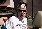 WWII Navy veteran of the USS Whitney and Pearl Harbor, Joe Bailey, participates in the Veterans Day Parade, which honors American military veterans, in Tucson, Arizona, USA.