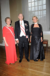 Left to right, PRINCE & PRINCESS DIMITRI OF RUSSIA and PRINCESS OLGA OF RUSSIA at the 13th annual Russian Summer Ball held at the Banqueting House, Whitehall, London on 14th June 2008.<br />