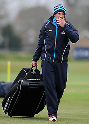 Somerset's Coach Steve Snell - Photo mandatory by-line: Harry Trump/JMP - Mobile: 07966 386802 - 23/03/15 - SPORT - CRICKET - Pre Season Fixture - Day 1 - Somerset v Glamorgan - Taunton Vale Cricket Club, Somerset, England.