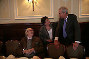 Sir John Mortimer, Mavis Nicolson and Jon Snow, Oldie of the Year Awards. Simpsons-in-the-Strand. London. 13 March 2007.  -DO NOT ARCHIVE-© Copyright Photograph by Dafydd Jones. 248 Clapham Rd. London SW9 0PZ. Tel 0207 820 0771. www.dafjones.com.