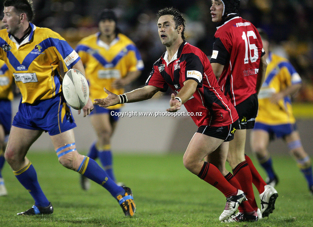 Shane Beyers in action during the Bartercard Cup Final rugby league match between the Mt. Albert Lions and the Canterbury Bulls at Mt. Smart Stadium, Auckland, New Zealand on Monday 18 September, 2006. Photo: Hannah Johnston/PHOTOSPORT<br /><br /><br /><br />180906