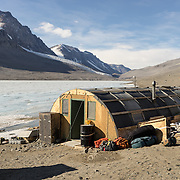 Lake Bonney Jamesway structure, McMurdo Dry Valleys, Antarctica