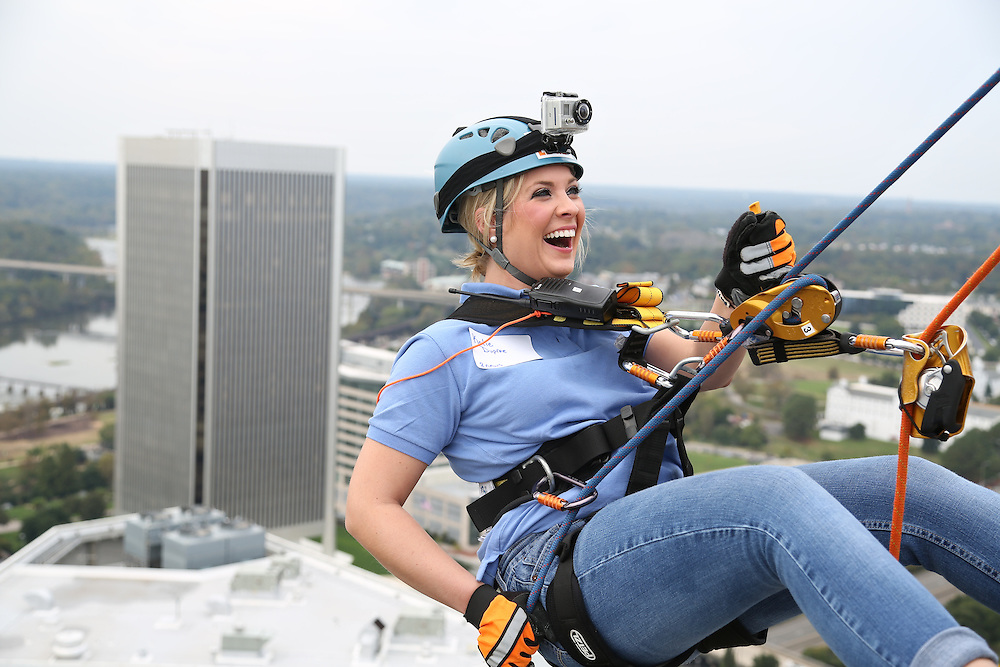 The Annual Over the Edge Fundraiser Special Olympics Virginia (Taken on top of the Suntrust building in downtown, Richmond, VA 400 feet up)