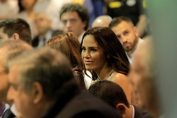 Thibaut Courtois ex wife Marta Dominguez attending the presentation of Belgian Thibaut Courtois as Real Madrid's goalkeeper at Santiago Bernabeu stadium in Madrid, Spain, 09 August 2018. Photo by Acero/Alterphotos/ABACAPRESS.COM