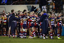 Bristol Rugby congratulate each other at the end of the game - Mandatory by-line: Dougie Allward/JMP - 30/12/2017 - RUGBY - The Athletic Ground - Richmond, England - Richmond v Bristol Rugby - Greene King IPA Championship
