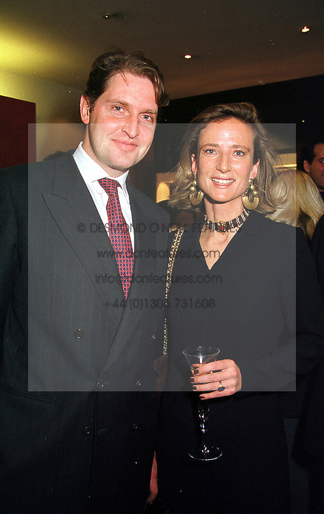 COUNT & COUNTESS MICHEL DE LIEDEKERKE at a party in London on 30th November 1999.MZP 9