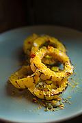 The grilled delicata squash at Coquette restaurant.