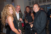 KELLY HOPPEN; JOHN GARDNER; PHOEBE VELA; JOHN HITCHOX Cartier Tank Anglaise launch. Kensington Palace Orangery, London.  19 April 2012.