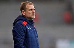 ST HELENS, ENGLAND - Wednesday, October 24, 2018: FK Crvena zvezda's head coach Bratislav Zivkovic during the UEFA Youth League Group C match between Liverpool FC and FK Crvena zvezda at Langtree Park. (Pic by David Rawcliffe/Propaganda)