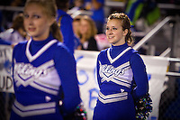 Felicia watches the Coeur d'Alene High Viking's homecoming game Friday, Sept. 24, 2010.