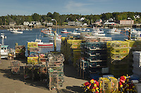 Lobster boats and lobster traps, Bass Harbor Maine