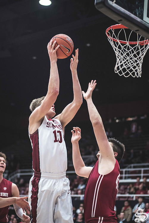 Michael Humphrey #10 vs. Washington State on January 12, 2017 at Maples Pavilion in Stanford, CA. Photo by Ryan Jae.