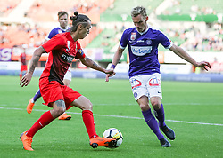 05.05.2018, Ernst Happel Stadion, Wien, AUT, 1. FBL, FK Austria Wien vs FC Flyeralarm Admira, 33. Runde, im Bild v.l. Maximilian Sax (FC Flyeralarm Admira), Thomas Salamon (FK Austria Wien) // during Austrian Football Bundesliga Match, 33rd Round, between FK Austria Vienna and FC Flyeralarm Admira at the Ernst Happel Stadion, Vienna, Austria on 2018/05/05. EXPA Pictures © 2018, PhotoCredit: EXPA/ Alexander Forst