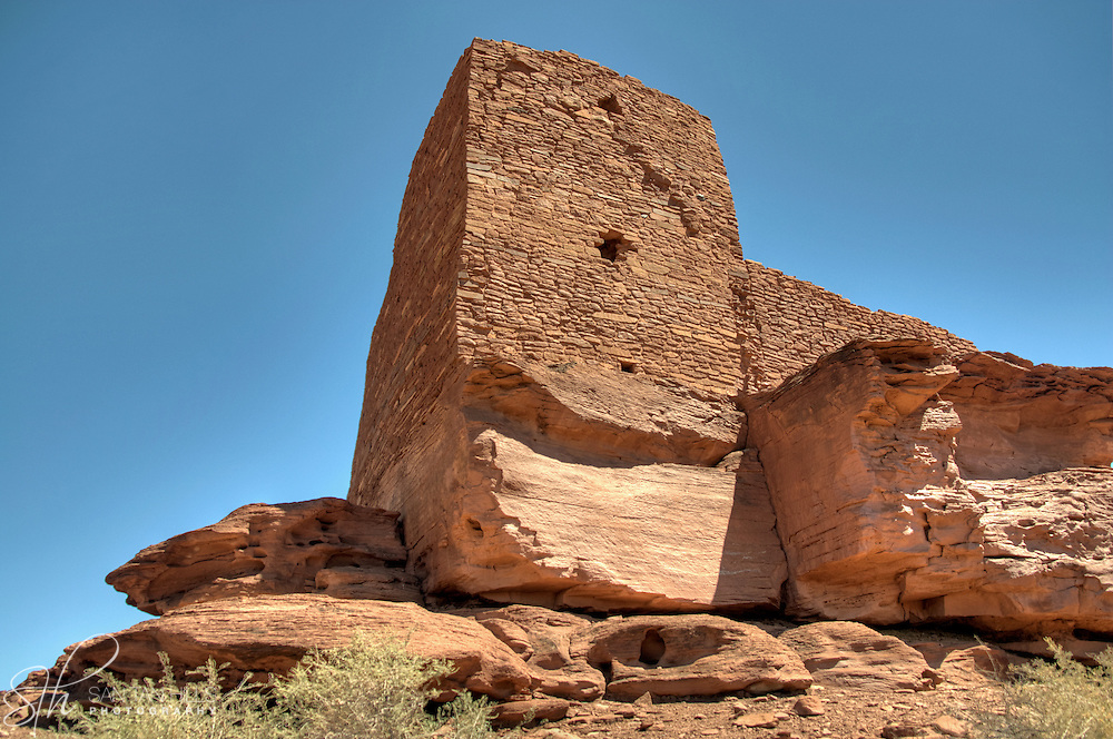 Large intact portion of the Wukoki Pueblo - Wupatki National Monument, AZ