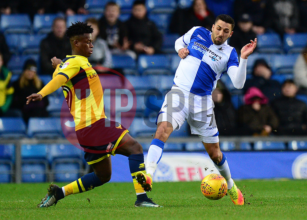 Liam Sercombe of Bristol Rovers Battles for the ball with Ashley Smith-Brown of Oxford United  - Mandatory by-line: Alex James/JMP - 10/02/2018 - FOOTBALL - Kassam Stadium - Oxford, England - Oxford United v Bristol Rovers - Sky Bet League One