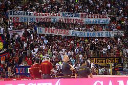 Foto Filippo Rubin/<br /> 12 agosto 2018 Torino, Italia<br /> sport calcio<br /> Bologna vs Padova - Coppa Italia 2018/2019 Terzo turno - stadio Renato Dall'Ara.<br /> Nella foto: STRISCIONI PER I VIGILI DEL FUOCO<br /> <br /> Photo Filippo Rubin/<br /> august 12, 2018 Turin, Italy<br /> sport soccer<br /> Bologna vs Padova - Italian Football Cup 2018/2019 Third Round - Renato Dall'Ara Stadium<br /> In the pic: HANDMADE SIGNS FOR FIREFIGHTERS