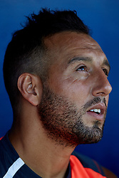 July 17, 2018 - Villareal, Castellon, Spain - Santi Cazorla of Villarreal CF smiles prior to the Pre-Season Friendly match between Villarreal CF and Hercules CF at Mini Estadi on July 17, 2018 in Vila-real, Spain  (Credit Image: © David Aliaga/NurPhoto via ZUMA Press)