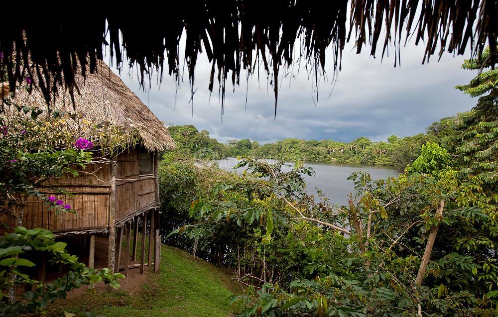 LaSelva jungle resort at Lake Garzacocha, Ecuador