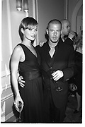 Kate Moss; Alexander Mcqueen, Li'l Kim Mac cosmetics presentation and dinner. Great Eastern Hotel. 6 June 2001. SUPPLIED FOR ONE-TIME USE ONLY> DO NOT ARCHIVE. © Copyright Photograph by Dafydd Jones 248 Clapham Rd.  London SW90PZ Tel 020 7820 0771 www.dafjones.com<br /> Kate Moss; Alexander Mcqueen, LiÕl Kim Mac cosmetics presentation and dinner. Great Eastern Hotel. 6 June 2001. SUPPLIED FOR ONE-TIME USE ONLY> DO NOT ARCHIVE. © Copyright Photograph by Dafydd Jones 248 Clapham Rd.  London SW90PZ Tel 020 7820 0771 www.dafjones.com