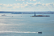 View of New York Harbor and Statue of Liberty from 30 West Street, Penthouse