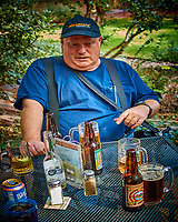 Kavanaugh Supporter Having a Beer. Image taken with a Nikon 1 V2 camera and 18.5 mm f/2 lens