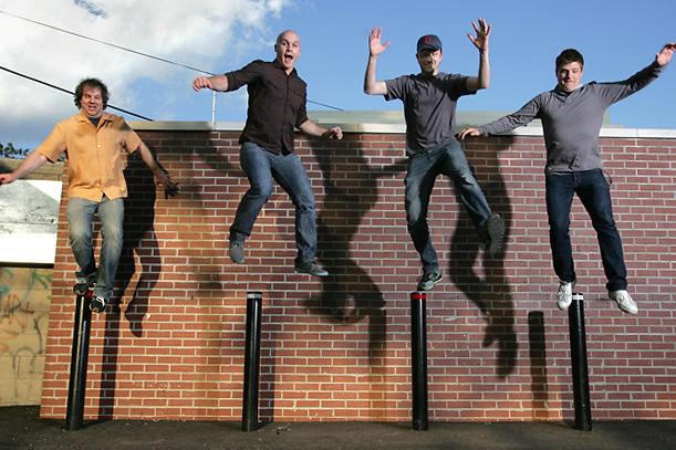 Band Miranda Sound:.(Left to Right)Dan Bell, Billy Peake, Sean Sefcik and Dan Gerken.(Jodi Miller/Alive).